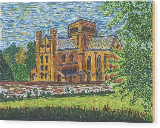 St Cross Church Winchester Wood Print by Pat Walden