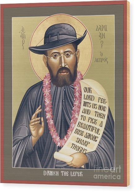 St. Damien The Leper - Rldtl Wood Print