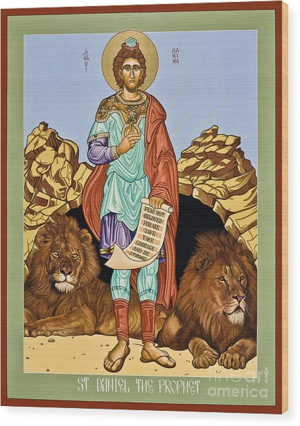 St. Daniel In The Lion's Den - Lwdld Wood Print