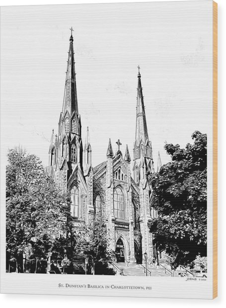 St Dunstans Basilica Wood Print