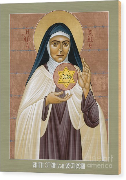 St. Edith Stein Of Auschwitz - Rleds Wood Print