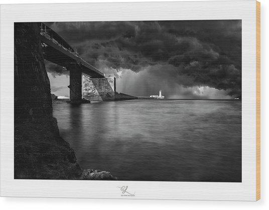 St. Elmo Breakwater Footbridge Wood Print