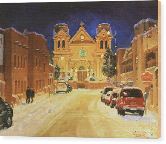 St. Francis Cathedral Basilica  Wood Print by Gary Kim