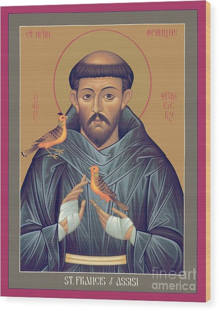 St. Francis Of Assisi - Rlfob Wood Print