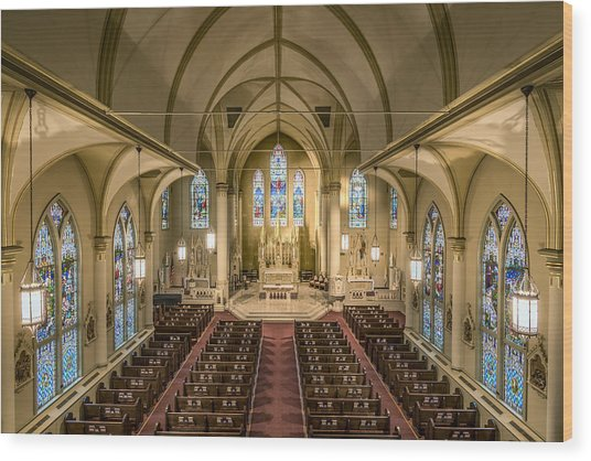 St. Francis Xavier Cathedral Wood Print