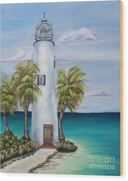 St. George Island Lighthouse Wood Print