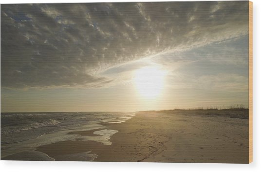 St George Island Sunset I Wood Print
