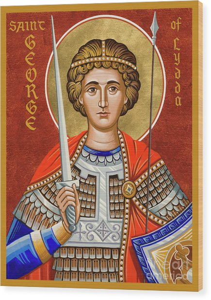St. George Of Lydda - Jcgly Wood Print