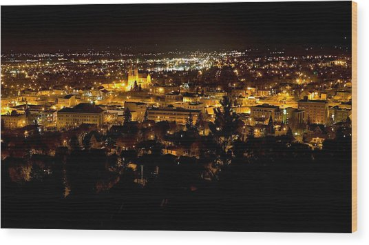 St Helena Cathedral And Helena By Night Wood Print