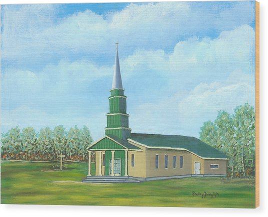 St. Helens - Sacred Ground Wood Print by Shelley Zwingli
