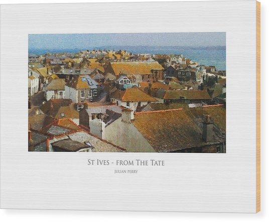 St Ives - From The Tate Wood Print
