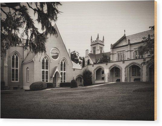 St James Parish Wilmington North Carolina In Sepia Wood Print