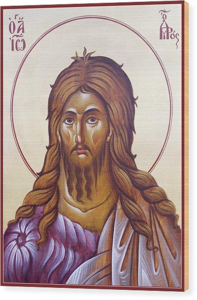 St John The Forerunner And Baptist Wood Print by Julia Bridget Hayes