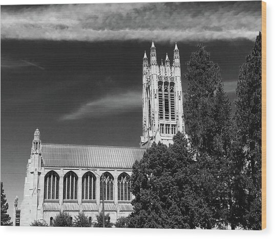 Wood Print featuring the photograph St. John's Cathedral Spokane by Pacific Northwest Imagery