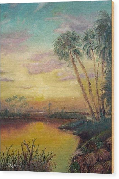 St. Johns Sunset Wood Print