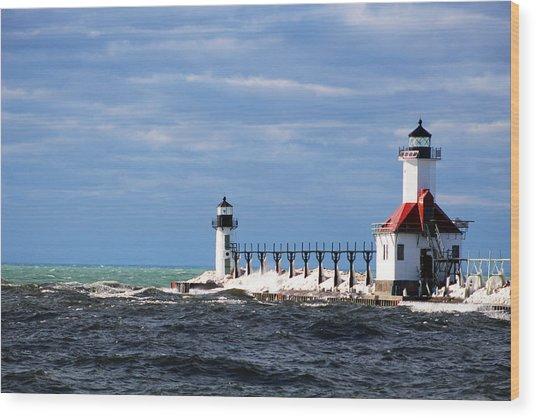 St. Joseph Lighthouse - Michigan Wood Print