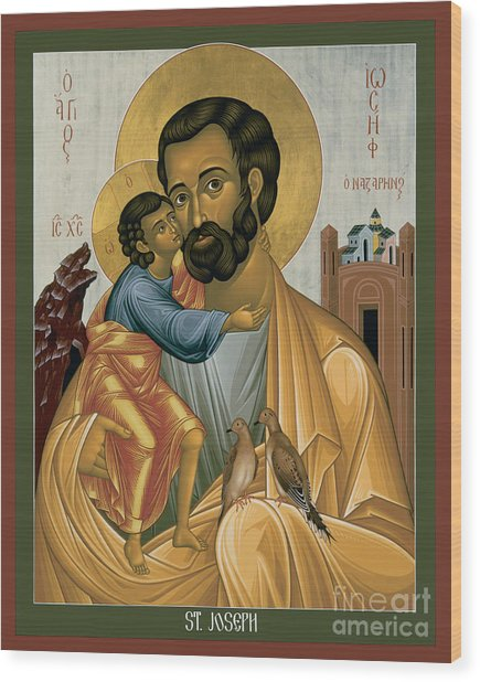 St. Joseph Of Nazareth - Rljnz Wood Print