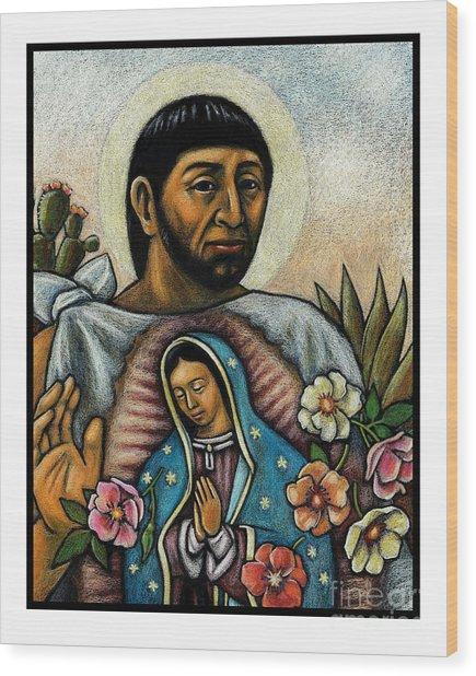St. Juan Diego And The Virgins Image - Jljdv Wood Print
