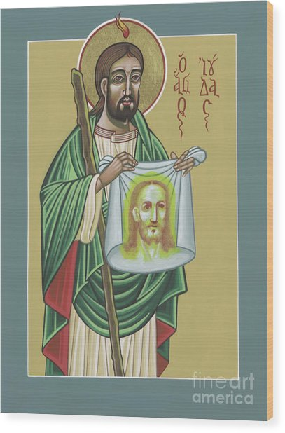 St Jude Patron Of The Impossible 287 Wood Print