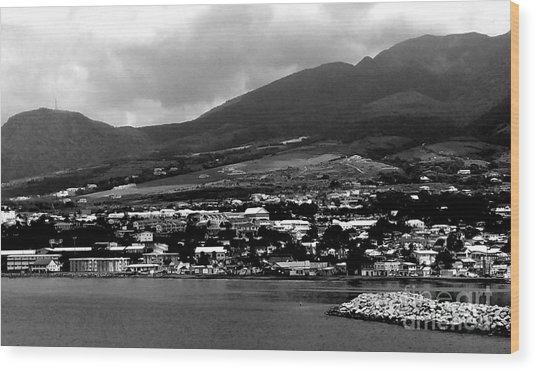 St. Kitts Beautiful Caribbean Island  Wood Print