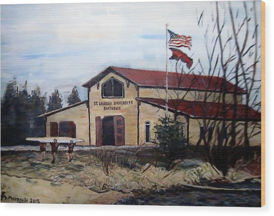 St. Lawrence Boathouse Wood Print