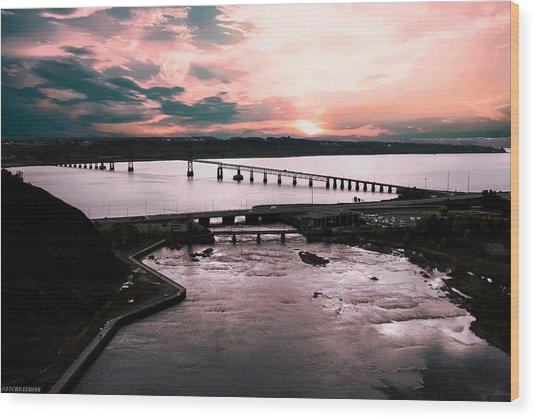 St. Lawrence Sunset Wood Print