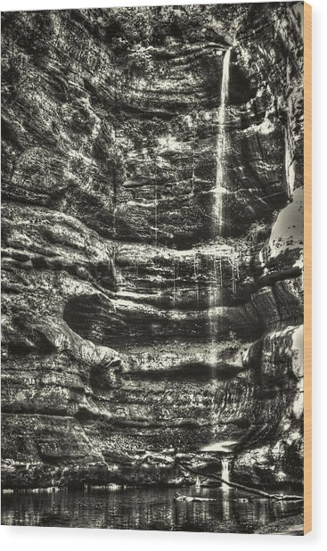 St Louis Canyon At Starved Rock State Park Wood Print