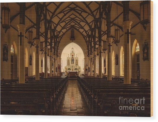 St. Louis Catholic Church Of Castroville Texas Wood Print