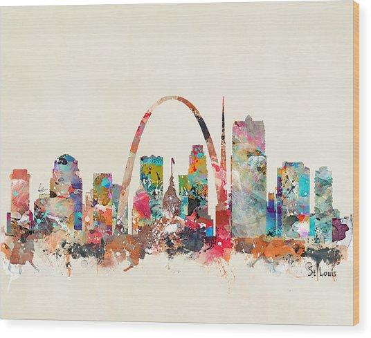 St Louis Missouri Skyline Wood Print