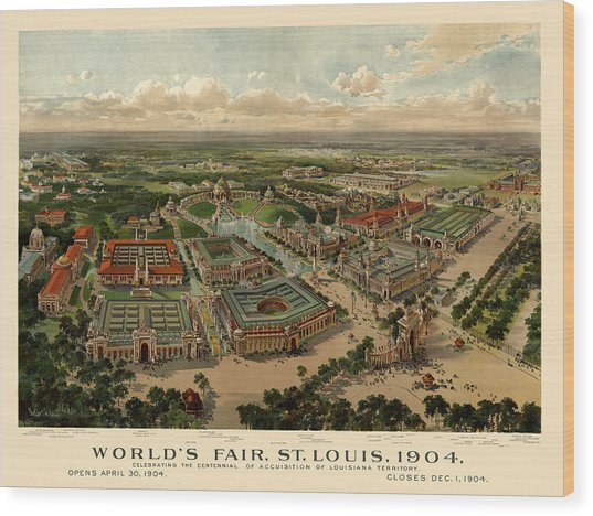 St. Louis Worlds Fair 1904 Wood Print