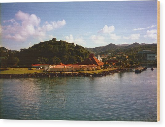 St Lucia Welcome Center Wood Print by Russ Mullen