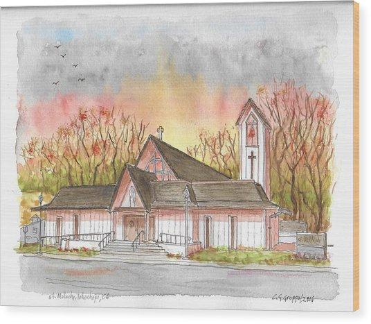 St. Malachy Church, Tehachapi, California Wood Print
