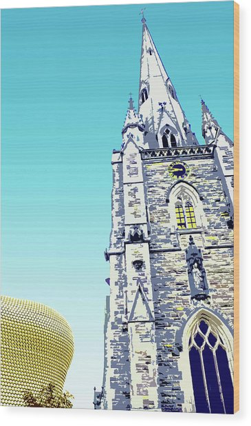 St Martins And Selfridges Wood Print