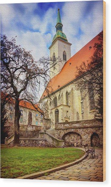St Martins Cathedral Bratislava Wood Print