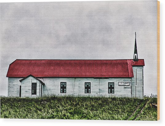St. Mary Church, Babb, Mt Wood Print