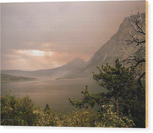 St Mary Lake In The Smoke Wood Print