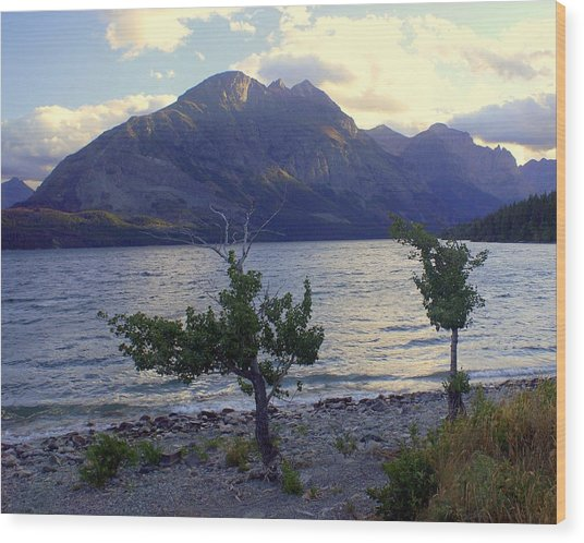 St. Mary Lake Wood Print