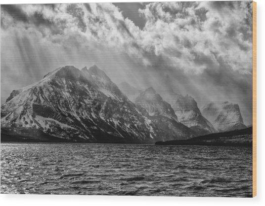 St Mary Storm, Glacier National Park  Wood Print