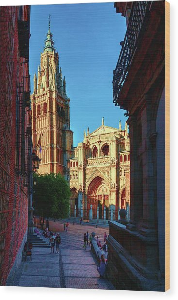 St Mary's Cathedral - Catholic Cathedral In Toledo, Chair Of The Primate Of Spain, The Main Cathedra Wood Print