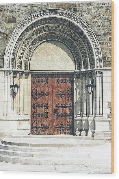 St. Mary's Of Redford Entrance Wood Print