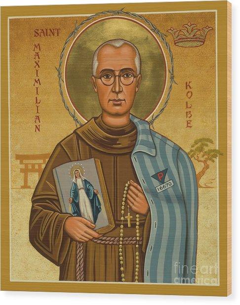St. Maximilian Kolbe - Jckol Wood Print