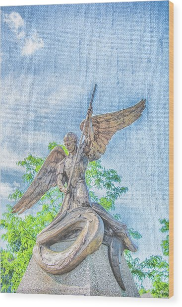 St Michael The Archangel Wood Print