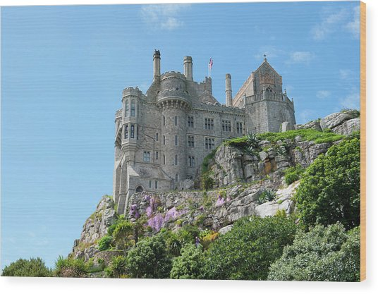 St Michael's Mount Castle Wood Print