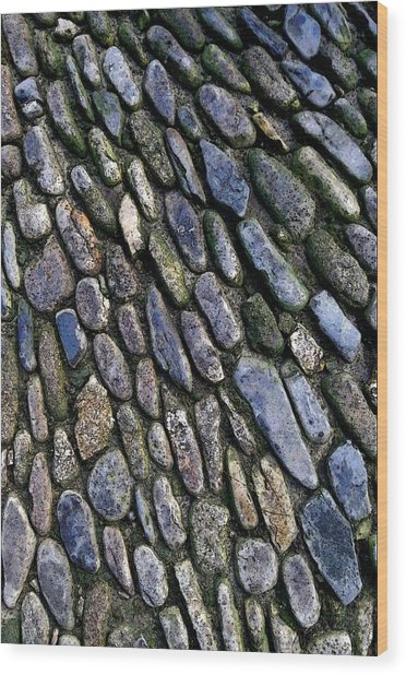 Wood Print featuring the digital art St Michael's Path by Julian Perry