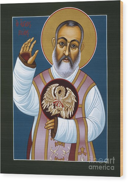 St Padre Pio Mother Pelican 047 Wood Print