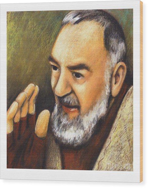 St. Padre Pio Of Pietrelcina - Jlpio Wood Print