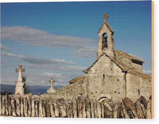 St. Pantaleon Church,  Luberon, France Wood Print