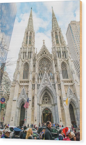 St. Patrick Cathedral In New York Wood Print
