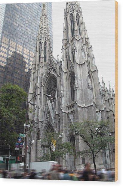 St Patrick's Cathedral - Manhattan Wood Print