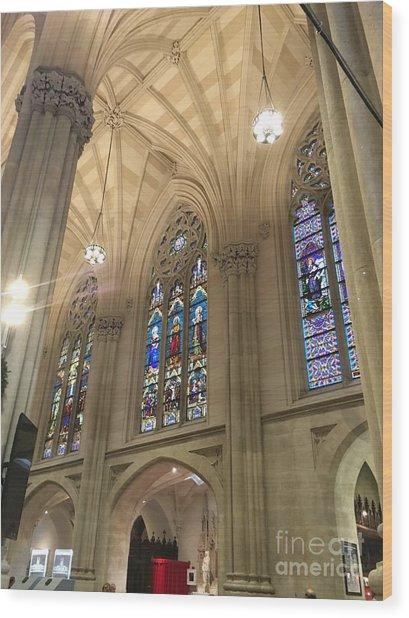 St. Patricks Cathedral Interior Wood Print